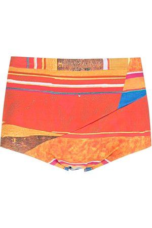 AMIR SLAMA Striped panels swimming trunks