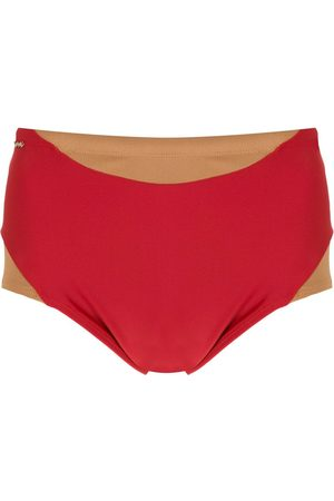 AMIR SLAMA Homem Fatos-de-banho - Panelled two-tone swimming trunks