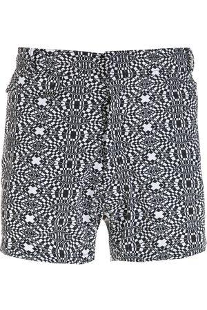 AMIR SLAMA Striped geometric print shorts