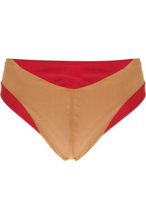 AMIR SLAMA Panelled two-tone swimming trunks