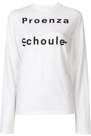 PROENZA SCHOULER WHITE LABEL Senhora Sweatshirts de Manga larga - Long sleeve logo T-shirt