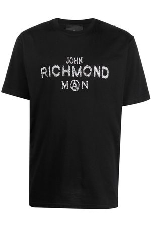 John Richmond Sequin-embellished logo T-shirt