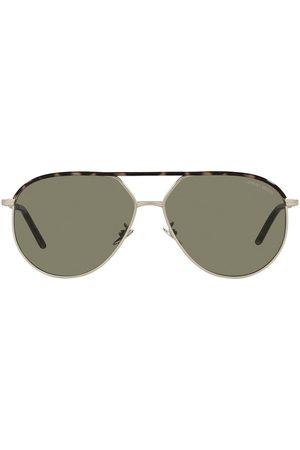 Armani Aviator-frame sunglasses