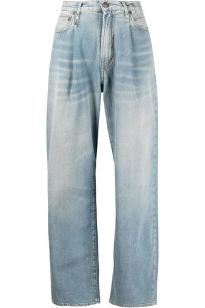 R13 Senhora Calças à Boca-de-sino - Damon pleated wide-leg trousers