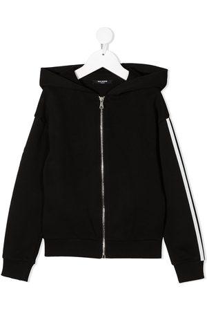 Balmain Menino Camisolas com capuz - Side-logo zipped hoodie