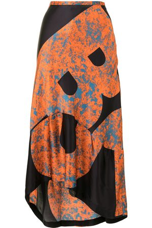 Colville Abstract high-low skirt