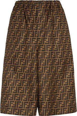 Fendi FF-print knee-length shorts