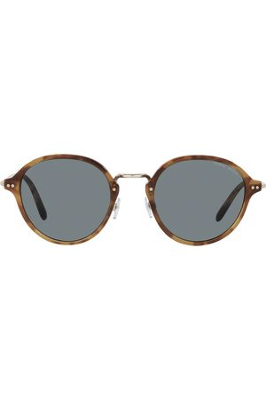 Armani Tortoiseshell-effect round-frame sunglasses