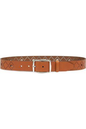 Fendi Perforated FF-logo belt