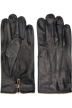 Paul Smith Homem Luvas - Striped trim leather gloves