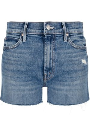 Mother Cowboys Dont' Cry denim shorts