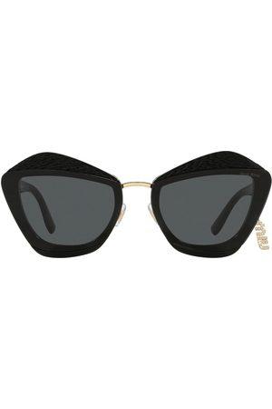 Miu Miu Senhora Óculos de Sol - Charms geometric-frame sunglasses