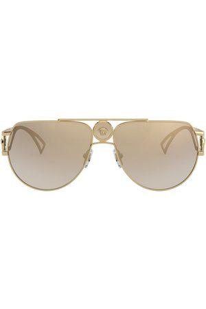 VERSACE Medusa aviator-frame sunglasses