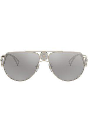 VERSACE Homem Óculos de Sol - Medusa aviator-frame sunglasses