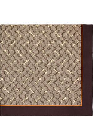 Gucci GG Horsebit-print silk scarf