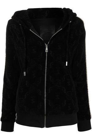 Philipp Plein Senhora Tops de Cavas - Monogram zipped hoodie