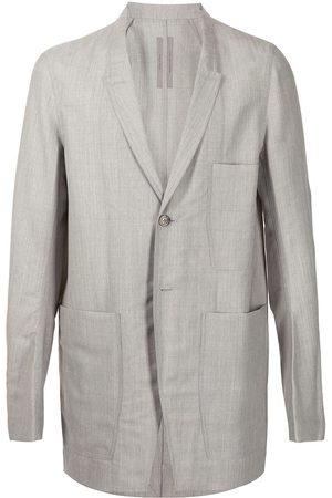 Rick Owens Homem Blazers - Single-breasted wool blazer