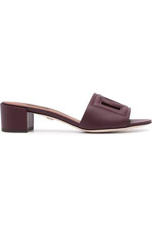 Dolce & Gabbana Cut-out DG low-heel sandals