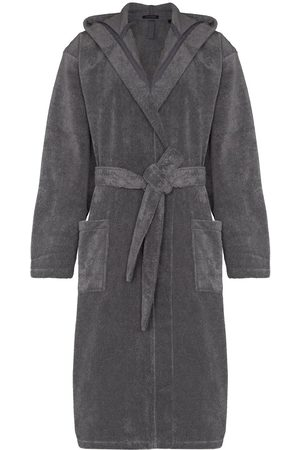 Schiesser Hooded cotton bathrobe