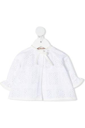 LA STUPENDERIA Perforated knit jacket