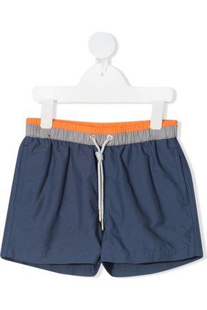 KNOT Stripe-panelled swim shorts