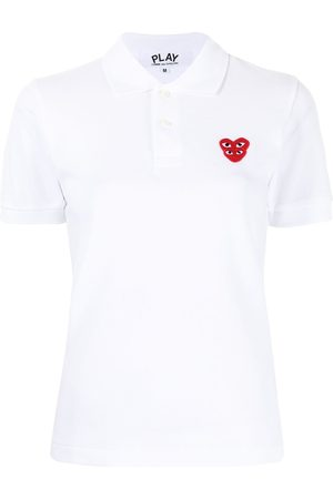 Comme des Garçons Chest logo-patch polo shirt