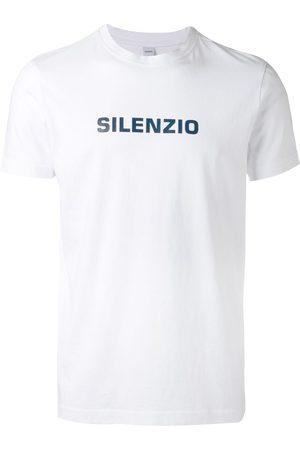 Aspesi Homem T-shirts & Manga Curta - Silenzio' print T-shirt