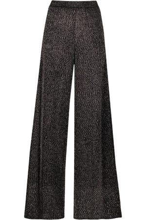Missoni Senhora Calças à Boca-de-sino - Glittered wide-leg trousers