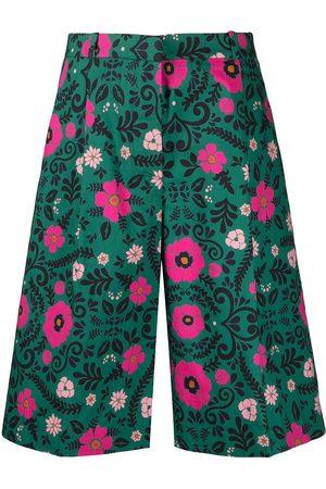 La DoubleJ Senhora Bermudas - Floral-print Bermuda shorts