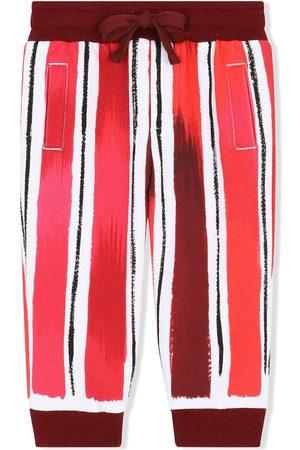 Dolce & Gabbana Striped logo-print track pants