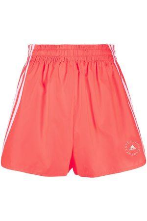 Stella McCartney Logo-print high-waisted running shorts