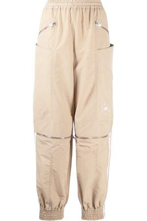 Stella McCartney Senhora Calças - Logo stripe zip front track pants
