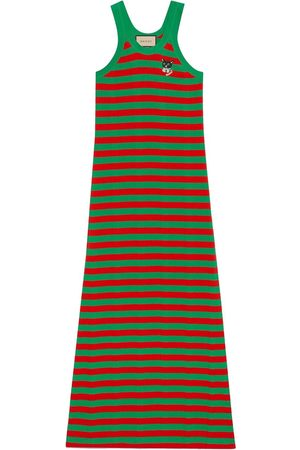 Gucci Striped cotton knitted dress