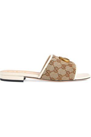 Gucci Mulher Sandálias - Double G slide sandals