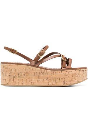 Tod's Senhora Sandálias com plataforma - Strap-detail platform sandals