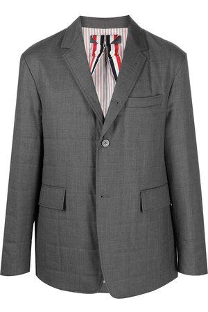 Thom Browne Homem Blazers - Padded single-breasted blazer jacket