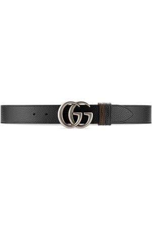 Gucci Homem Cintos - GG Marmont reversible belt