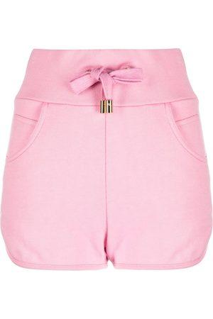 Balmain Embossed-logo shorts