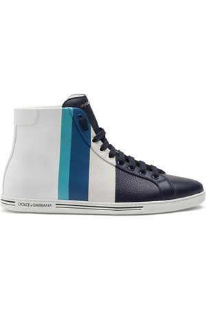 Dolce & Gabbana Stripe-print high-top sneakers