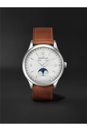 JAEGER-LECOULTRE Homem Relógios - Master Control Calendar Automatic 40mm Stainless Steel and Leather Watch, Ref No. 4148420