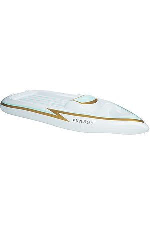 FUNBOY Yacht Inflatable Pool Float in - White. Size all.