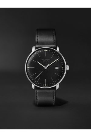 Junghans Max Bill Automatic 38mm Stainless Steel and Leather Watch, Ref. No. 027/4701.02
