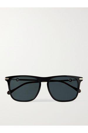 GUCCI Homem Óculos de Sol - D-Frame Tortoiseshell Acetate and Gold-Tone Sunglasses