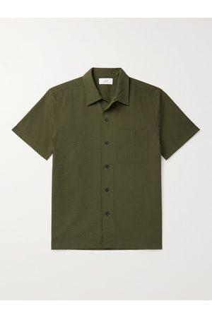 Mr P. Homem Casual - Cotton-Seersucker Shirt