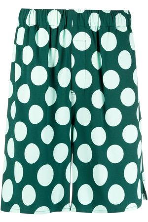 AMI Paris Polka dot Bermuda shorts