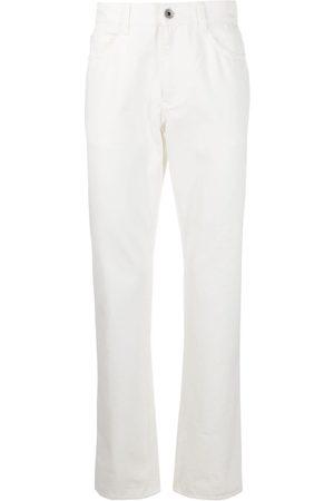 Salvatore Ferragamo Homem Retos - Straight-leg logo patch jeans