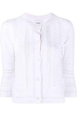 Barrie Senhora Boleros - Cropped sleeve round neck cardigan