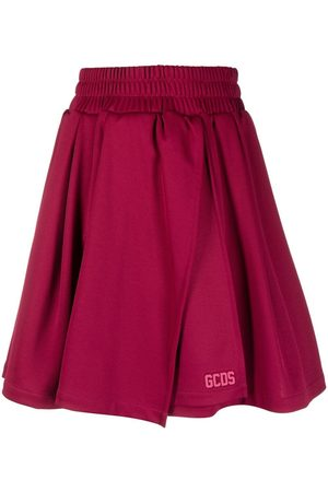GCDS Raised logo mini skirt