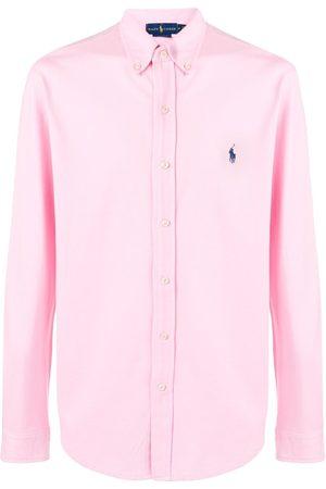 Ralph Lauren Homem Formal - Embroidered logo button-down shirt
