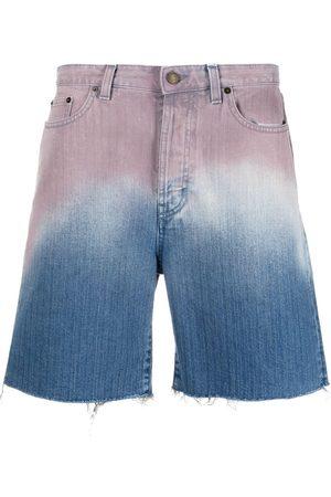 Saint Laurent Gradient denim shorts
